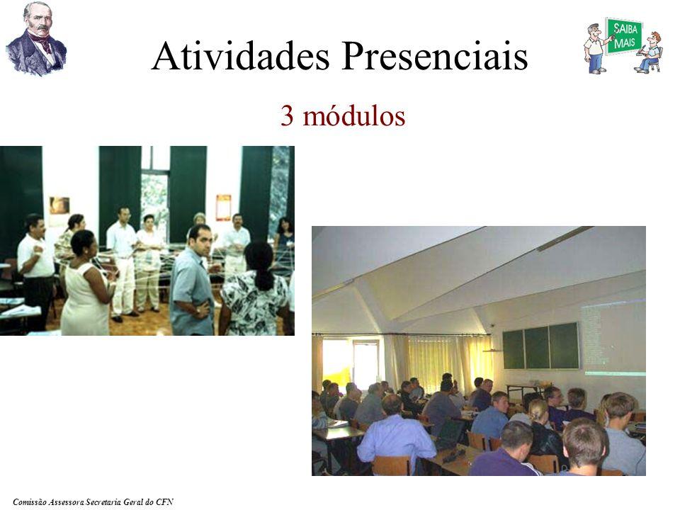 Comissão Assessora Secretaria Geral do CFN Mas normalmente não temos monitoria nos cursos que oferecemos.