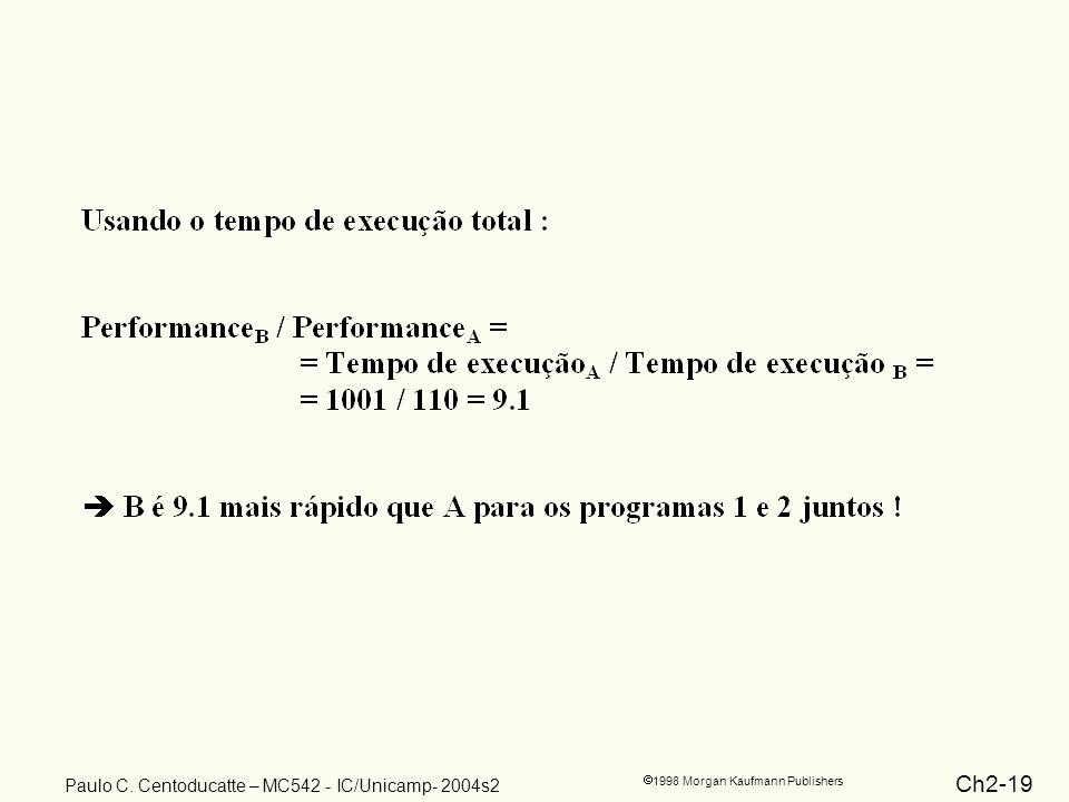 Ch2-19 1998 Morgan Kaufmann Publishers Paulo C. Centoducatte – MC542 - IC/Unicamp- 2004s2