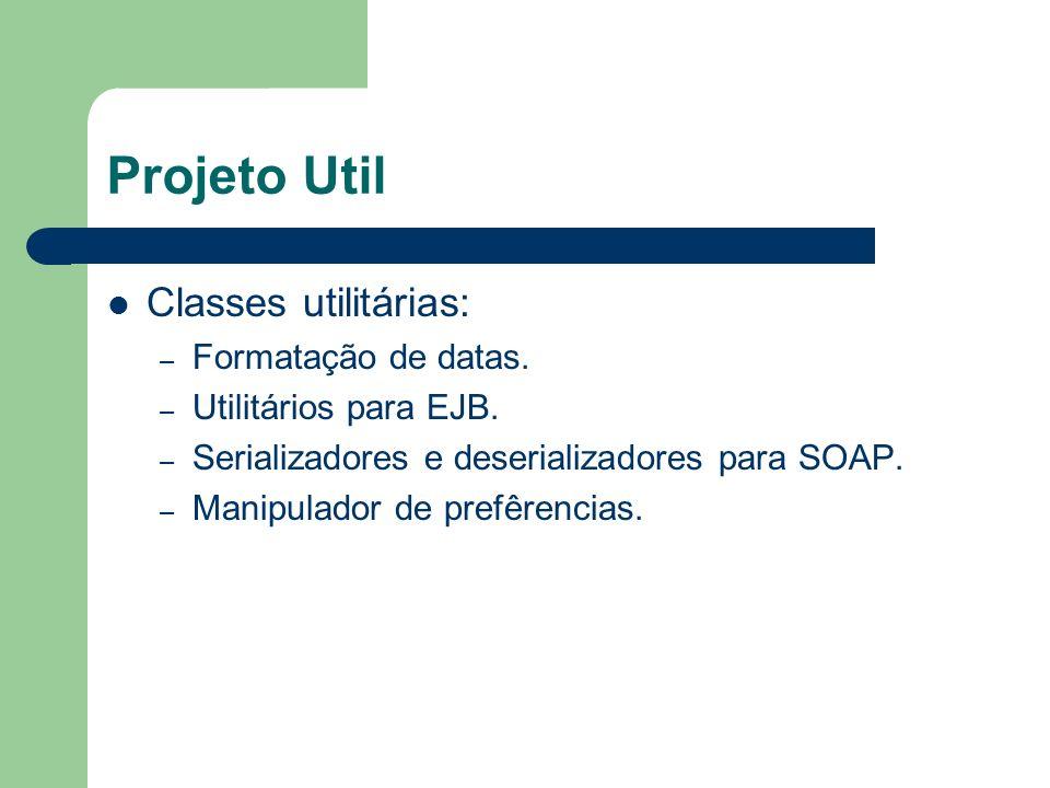 Projeto Util Classes utilitárias: – Formatação de datas.