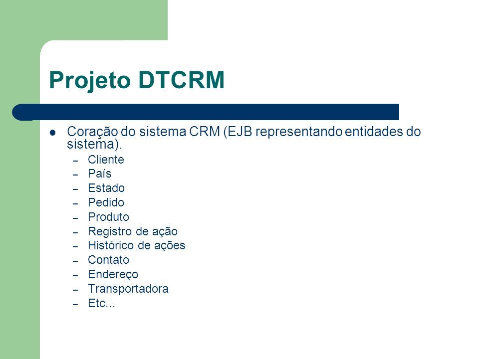 Projeto DTCRM Coração do sistema CRM (EJB representando entidades do sistema).