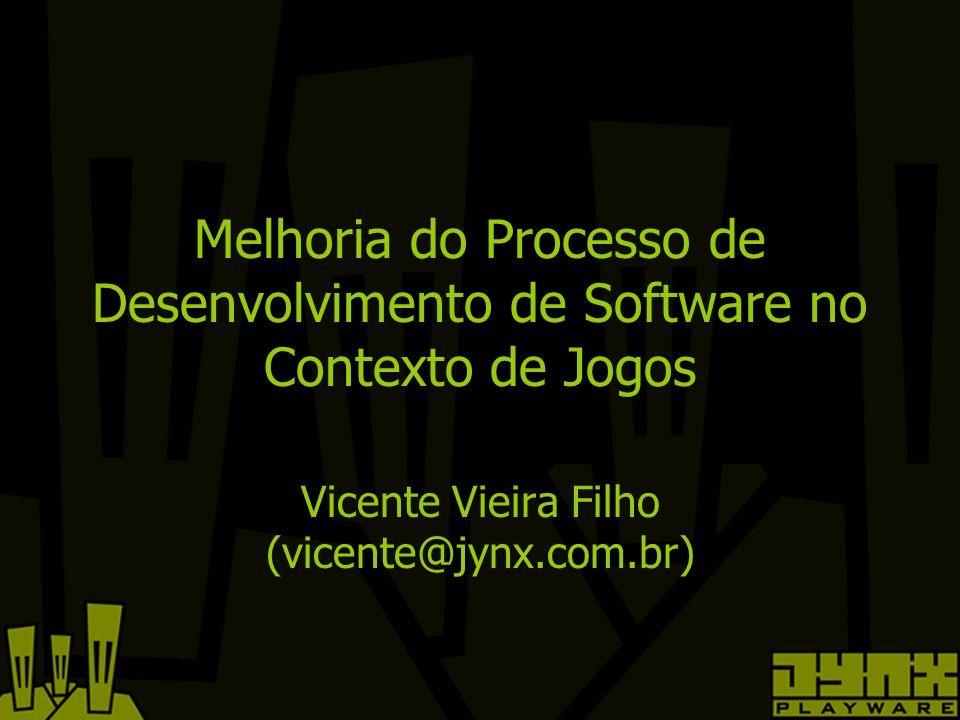 Melhoria do Processo de Desenvolvimento de Software no Contexto de Jogos Vicente Vieira Filho (vicente@jynx.com.br)