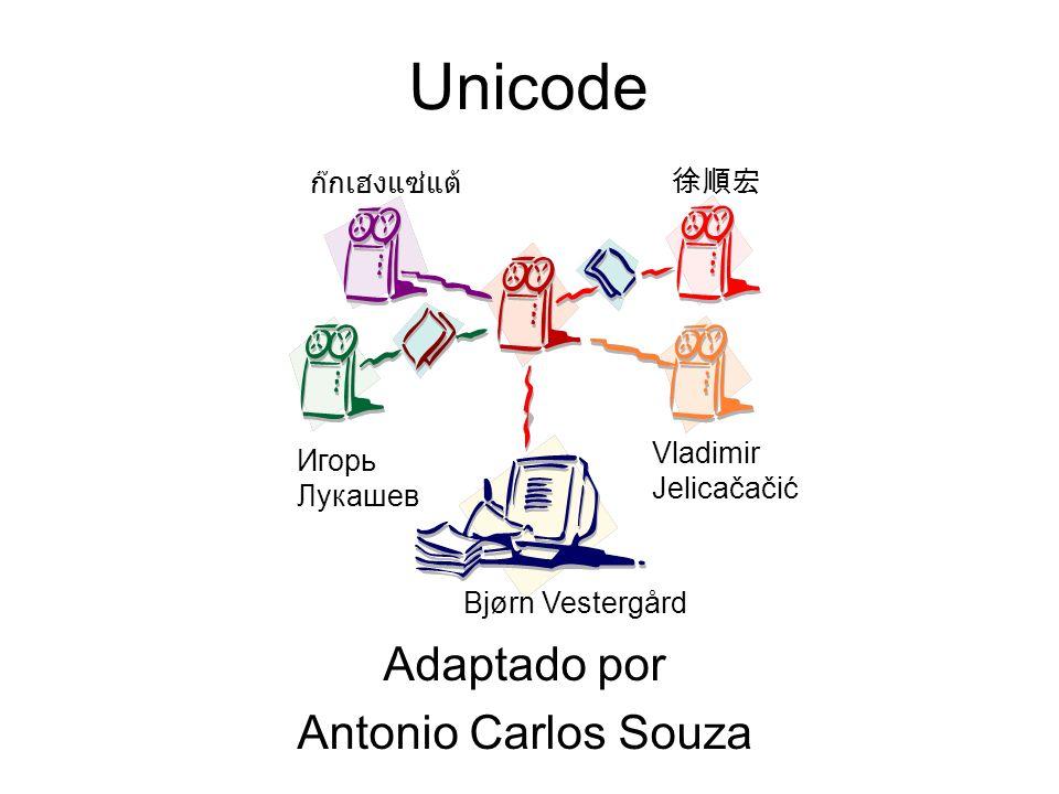 Unicode Adaptado por Antonio Carlos Souza Vladimir Jelicačačić Игорь Лукашев Bjørn Vestergård