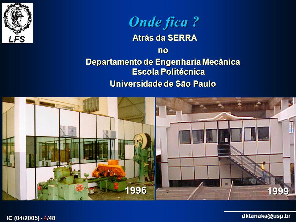 dktanaka@usp.br IC (04/2005) - 5/48 Porque Fenômenos de Superfície .
