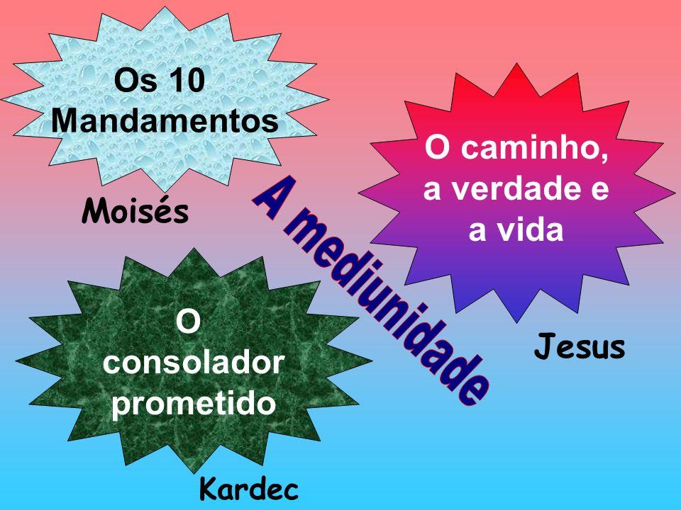 Os 10 Mandamentos O caminho, a verdade e a vida O consolador prometido Moisés Jesus Kardec