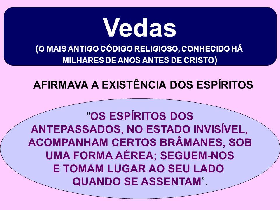 Vedas ( O MAIS ANTIGO CÓDIGO RELIGIOSO, CONHECIDO HÁ MILHARES DE ANOS ANTES DE CRISTO ) OS ESPÍRITOS DOS ANTEPASSADOS, NO ESTADO INVISÍVEL, ACOMPANHAM