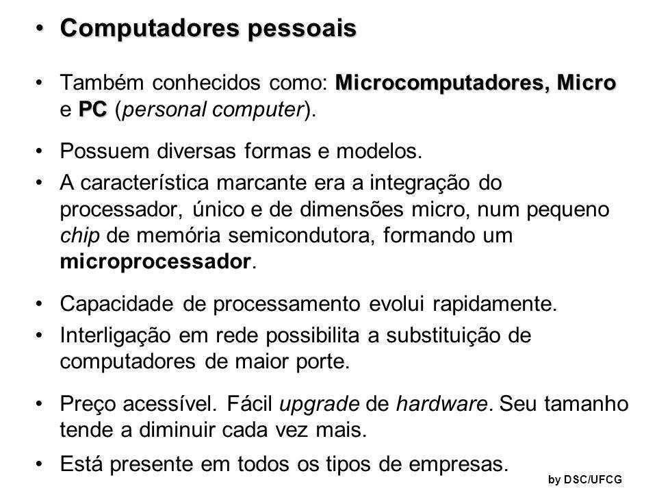 Computadores pessoaisComputadores pessoais Microcomputadores, Micro PCTambém conhecidos como: Microcomputadores, Micro e PC (personal computer). Possu
