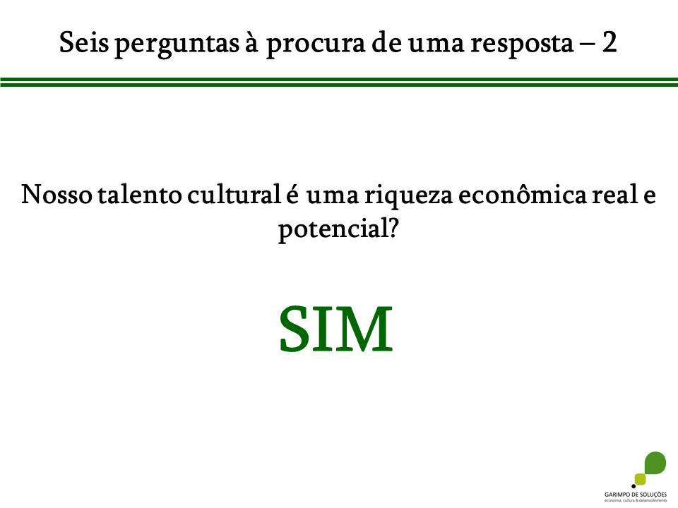 Seis perguntas à procura de uma resposta – 2 Nosso talento cultural é uma riqueza econômica real e potencial? SIM