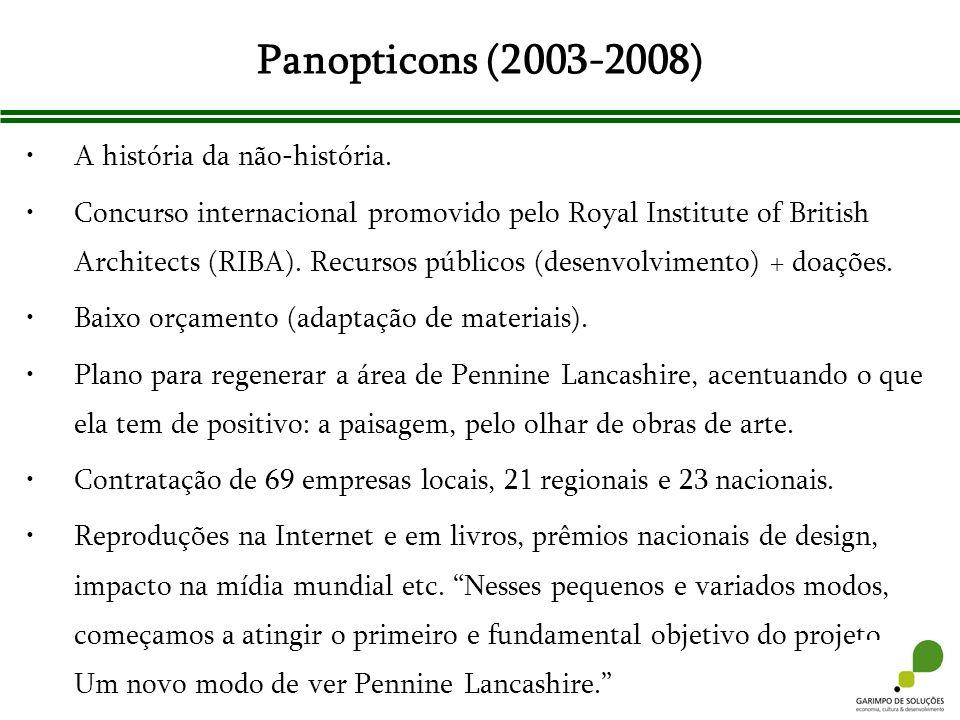 Panopticons (2003-2008) A história da não-história. Concurso internacional promovido pelo Royal Institute of British Architects (RIBA). Recursos públi