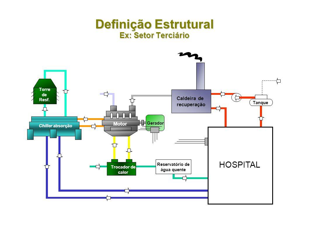 Defini ç ão Estrutural Ex: Cogeração Distrital