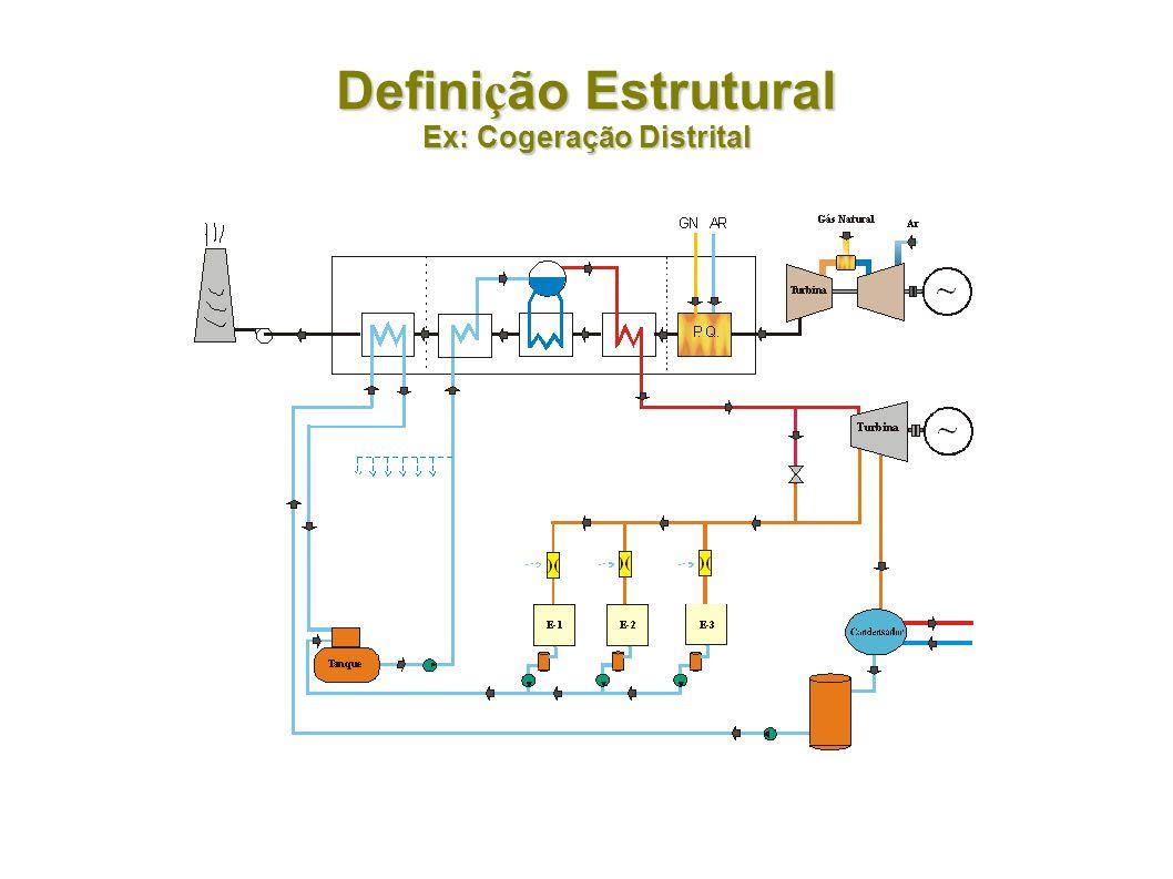 Defini ç ão Estrutural Ex: Cogeração com Biomassa