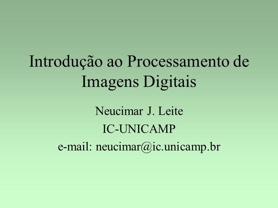 Introdução ao Processamento de Imagens Digitais Neucimar J. Leite IC-UNICAMP e-mail: neucimar@ic.unicamp.br