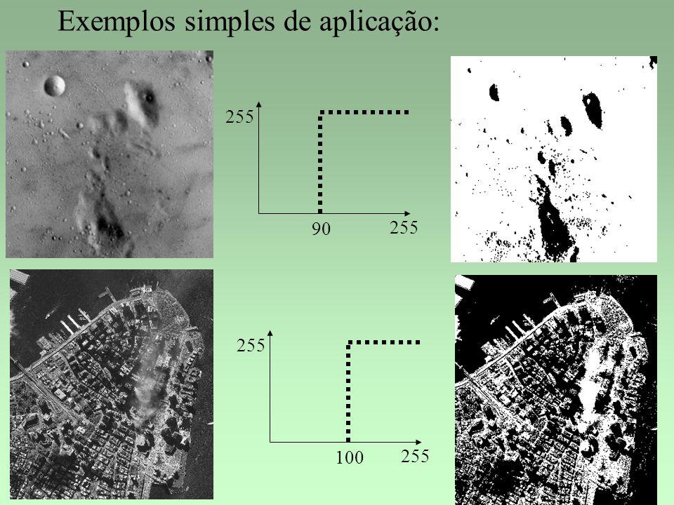 Exemplos simples de aplicação: 255 90 255 100