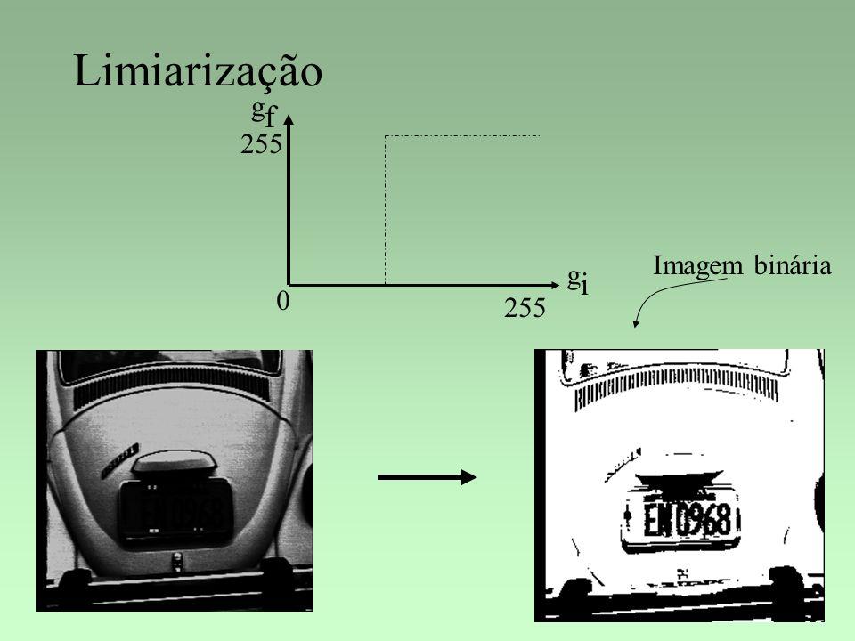 Limiarização gigi gfgf 0 255 Imagem binária