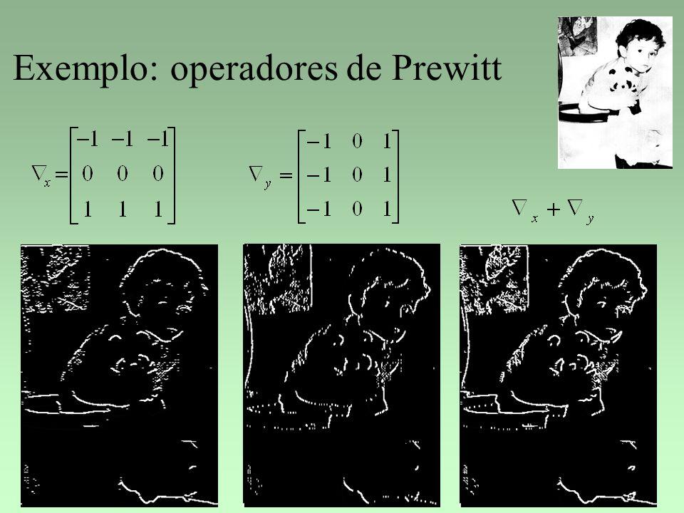 Exemplo: operadores de Prewitt