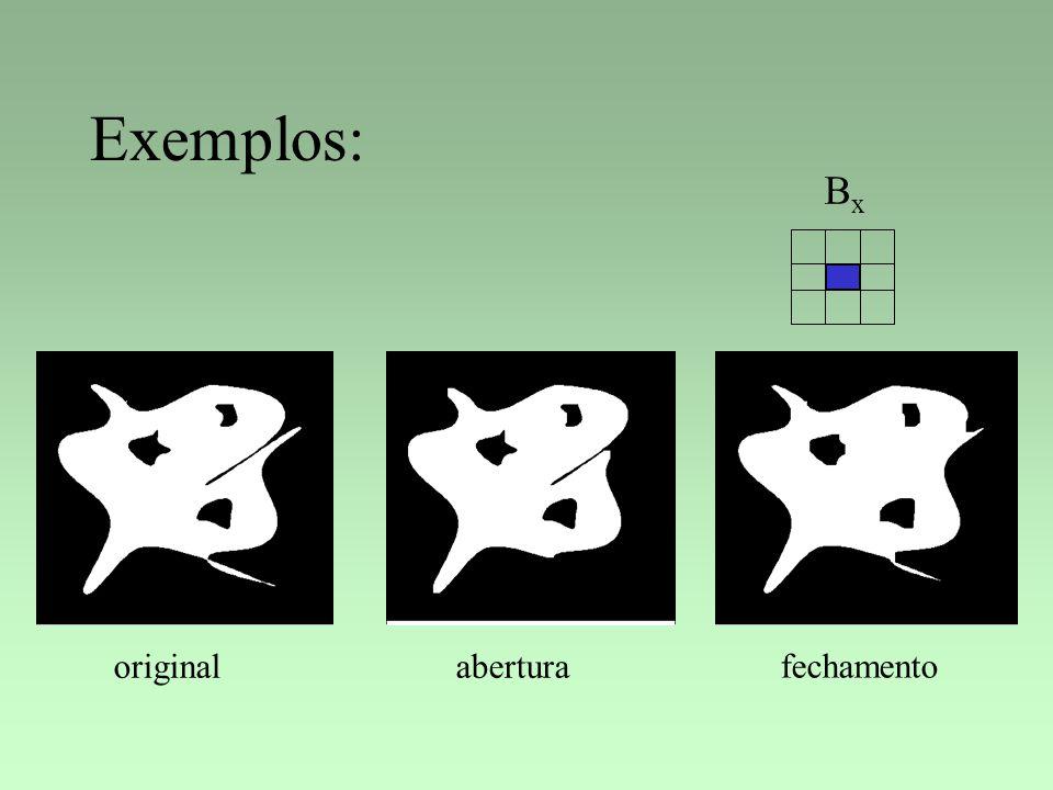 Exemplos: BxBx originalabertura fechamento
