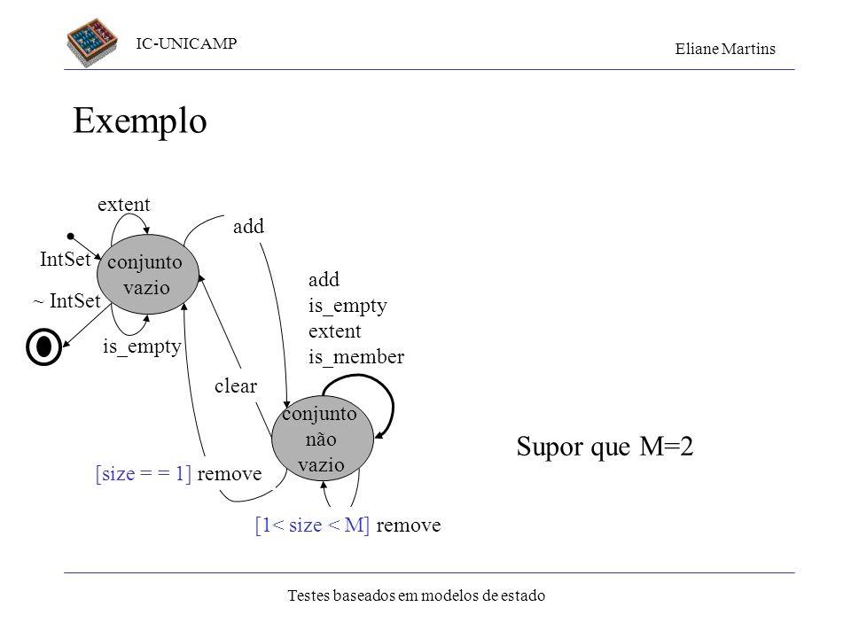 IC-UNICAMP Eliane Martins Testes baseados em modelos de estado 43 Exercício 1 Especifique o comando login usando modelo de estados. Os requisitos func