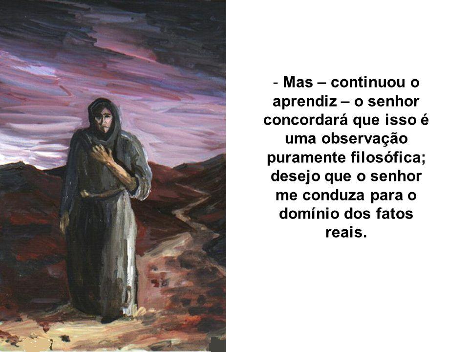 - Meu amigo – explicou-se o Mentor – Jesus, por falta de comparações e palavras adequadas, legou-nos muitas lições em forma de símbolos e parábolas...