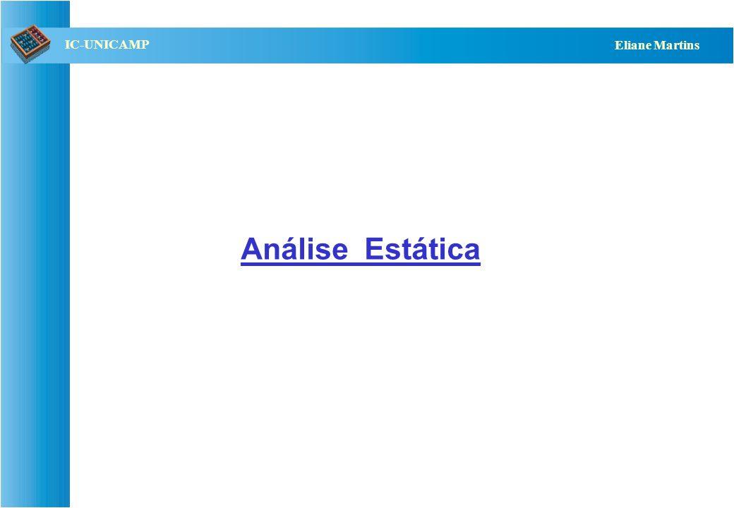 QST112 06/2001 IC-UNICAMP Eliane Martins Análise Estática