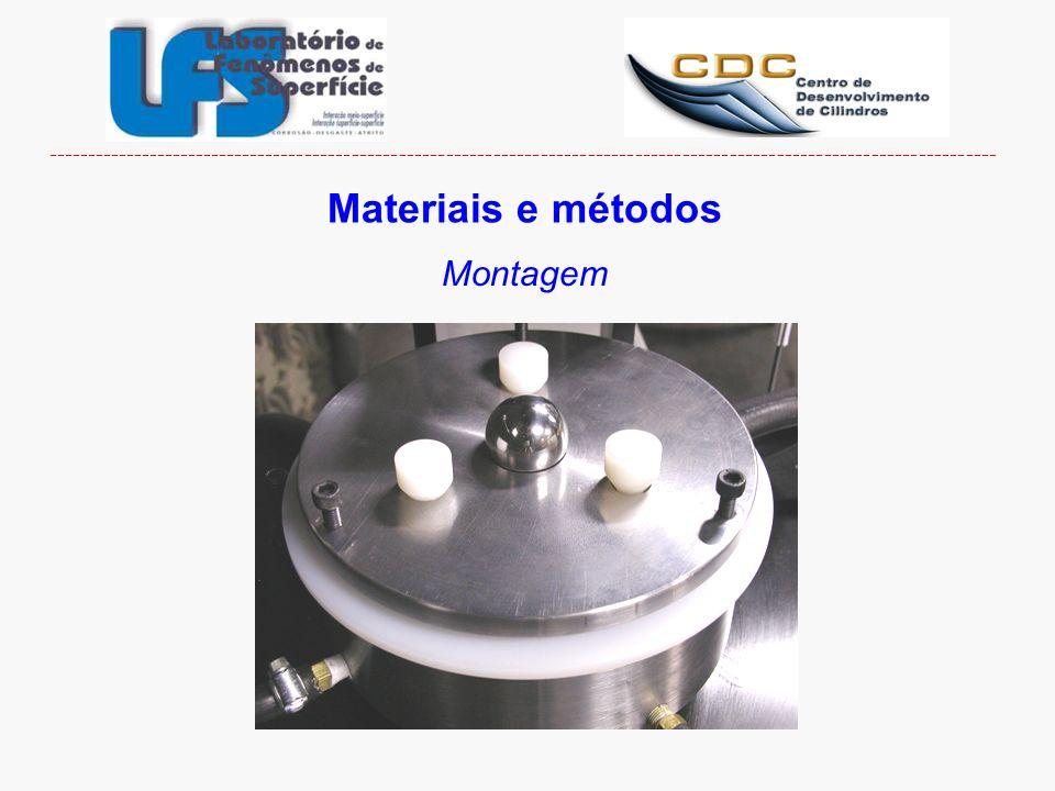 ------------------------------------------------------------------------------------------------------------------------- Materiais e métodos Montagem