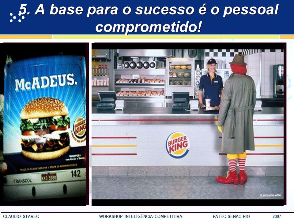 49 CLAUDIO STAREC WORKSHOP INTELIGÊNCIA COMPETITIVA FATEC SENAC RIO 2007 4. Analisar o ambiente é um processo que tem começo, meio e...