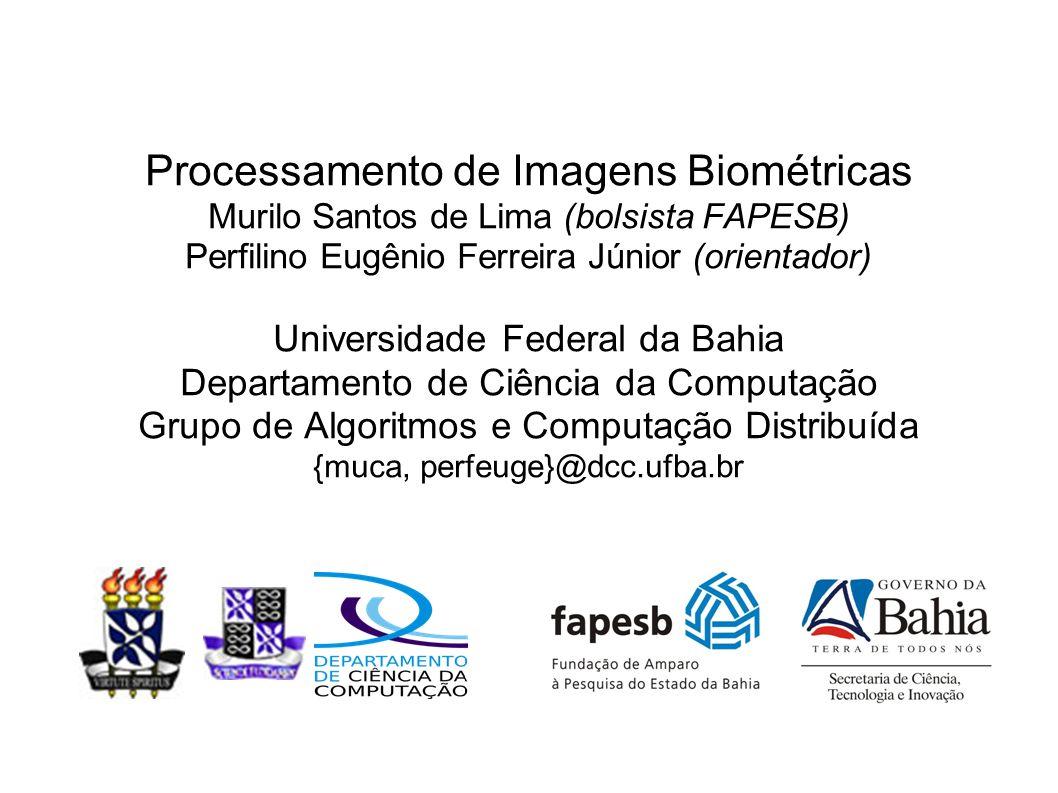 Processamento de Imagens Biométricas Murilo Santos de Lima (bolsista FAPESB) Perfilino Eugênio Ferreira Júnior (orientador) Universidade Federal da Ba