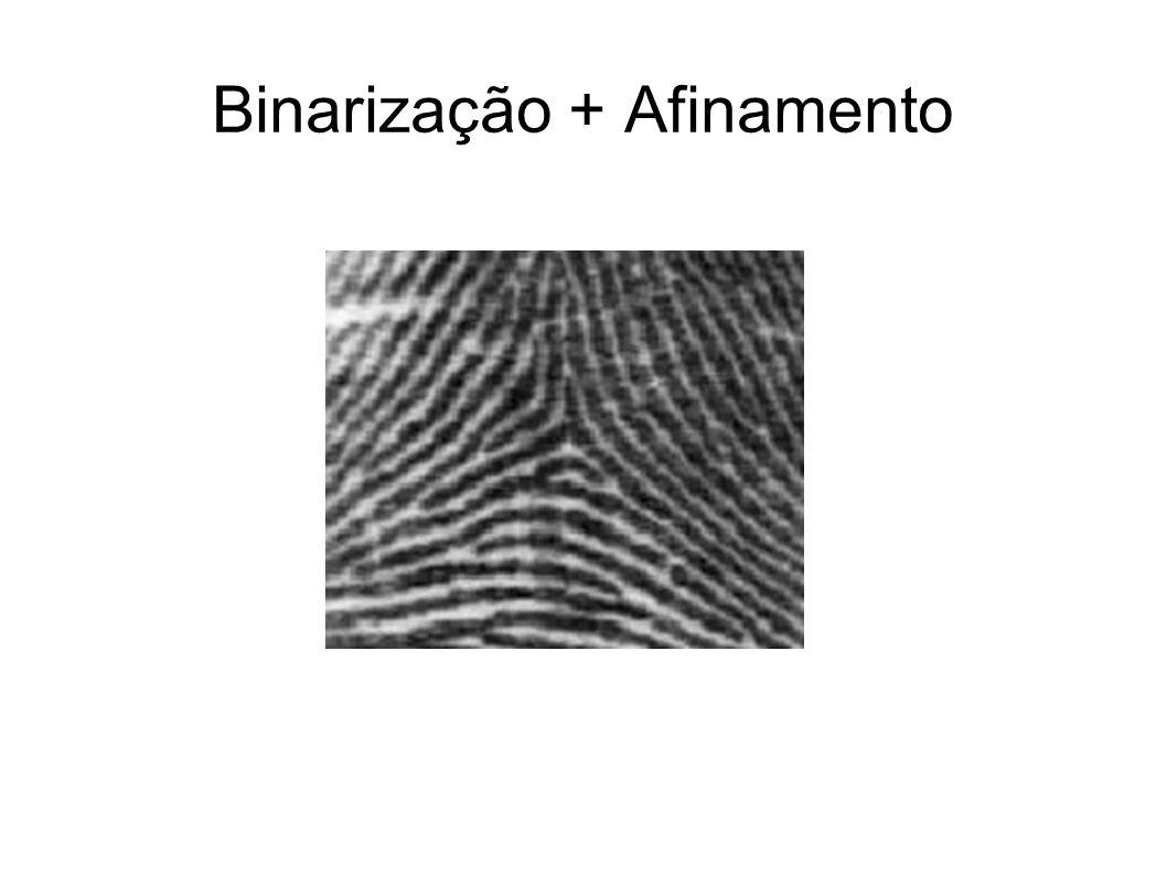 Binarização + Afinamento