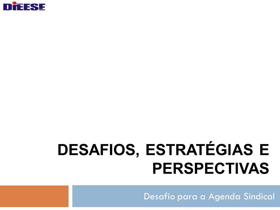 DESAFIOS, ESTRATÉGIAS E PERSPECTIVAS Desafio para a Agenda Sindical