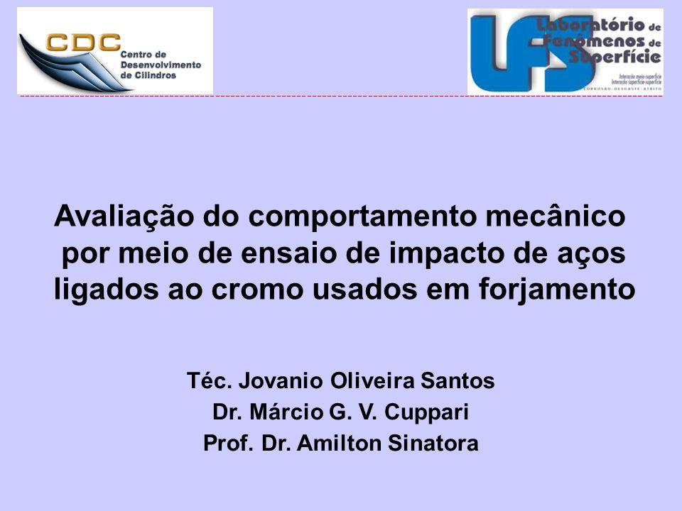 Téc. Jovanio Oliveira Santos Dr. Márcio G. V. Cuppari Prof. Dr. Amilton Sinatora ---------------------------------------------------------------------