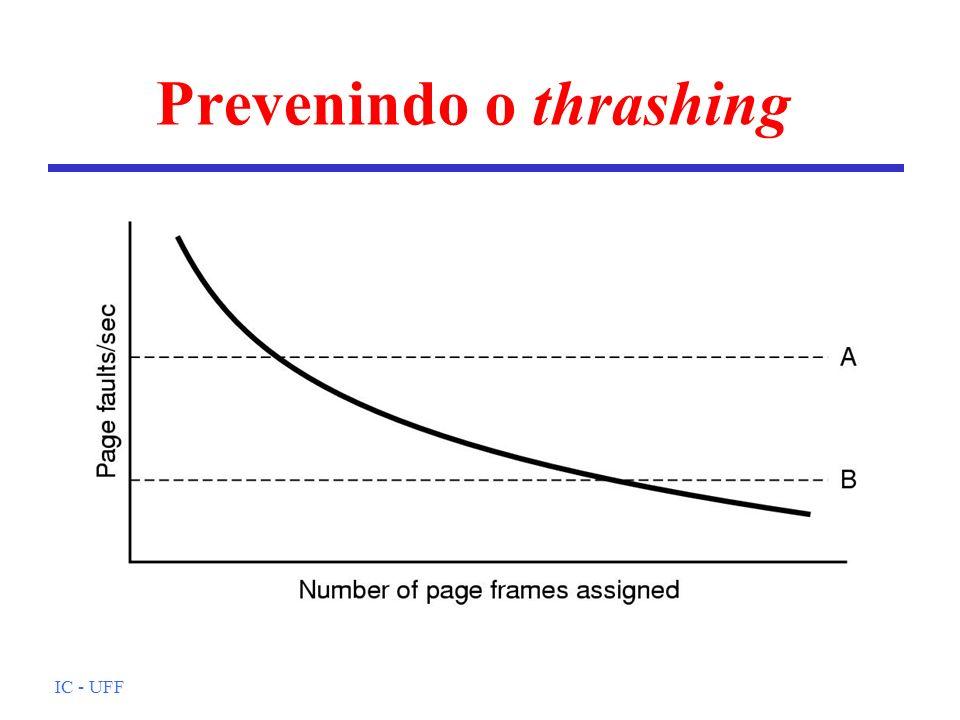 IC - UFF Prevenindo o thrashing