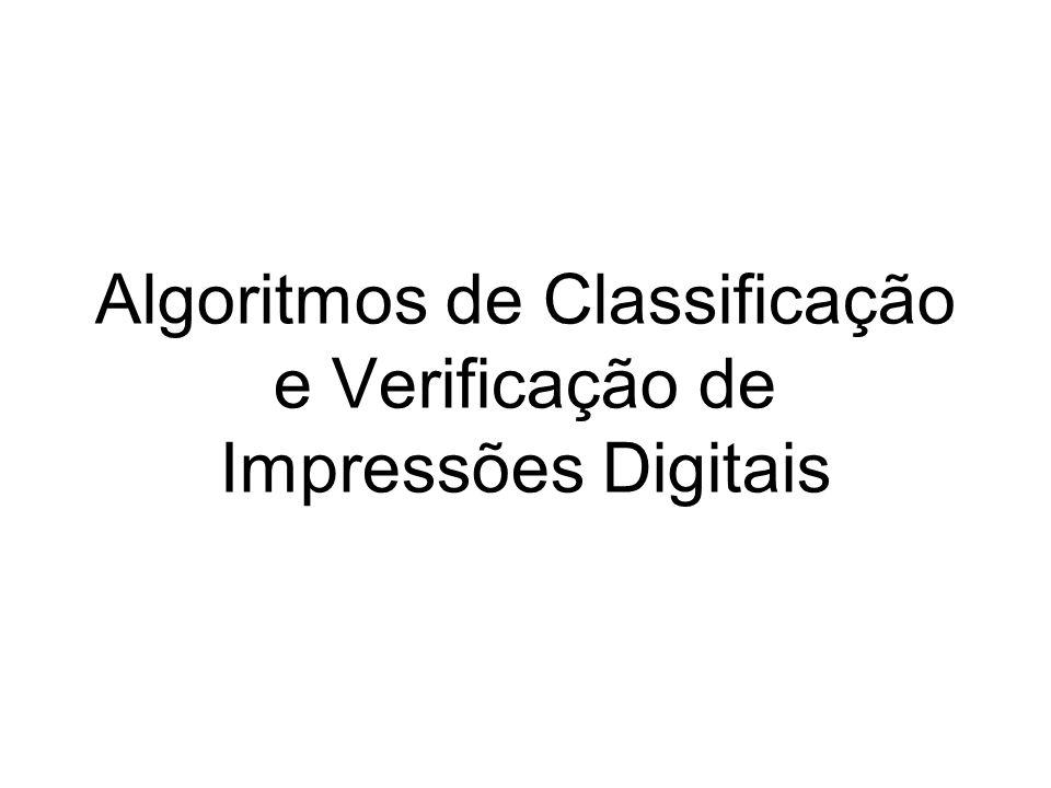 Algoritmos de Classificação e Verificação de Impressões Digitais
