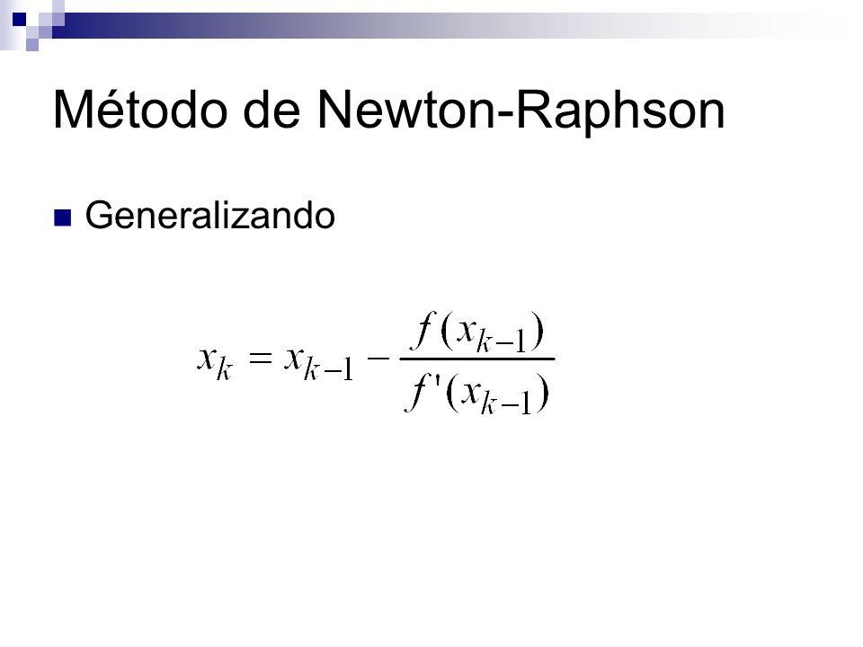 Generalizando Método de Newton-Raphson