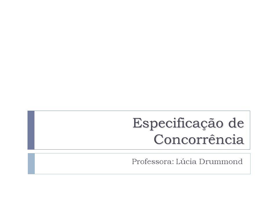 Especificação de Concorrência Professora: Lúcia Drummond