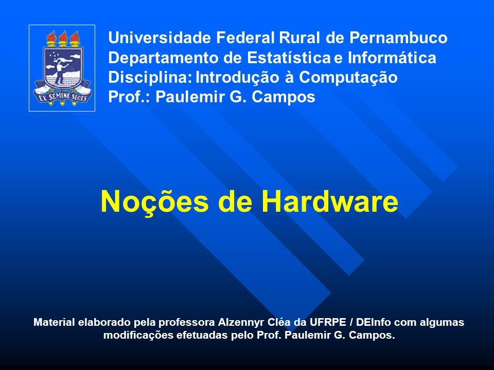 Definição de Microcomputador Dispositivo Eletrônico que recebe informações, processa dados e fornece saídas (resultados).