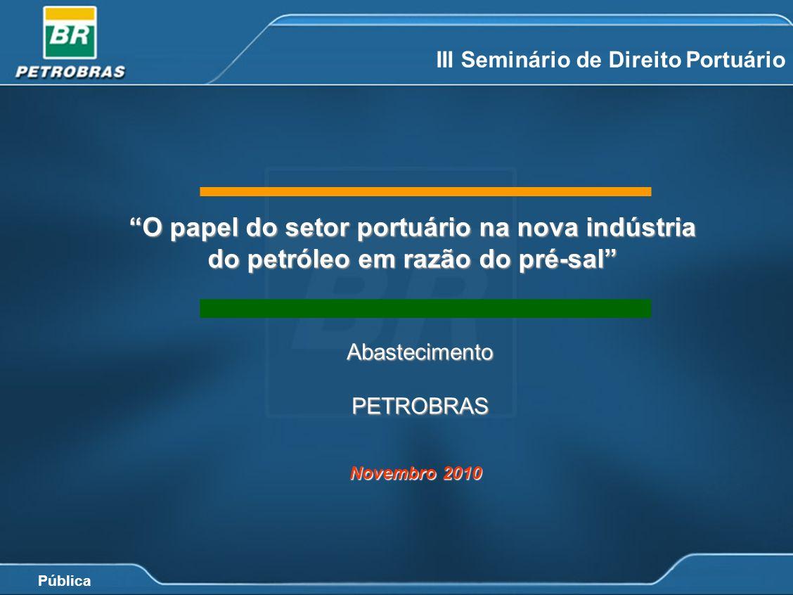 Pública III Seminário de Direito Portuário AbastecimentoPETROBRAS O papel do setor portuário na nova indústria do petróleo em razão do pré-sal Novembr