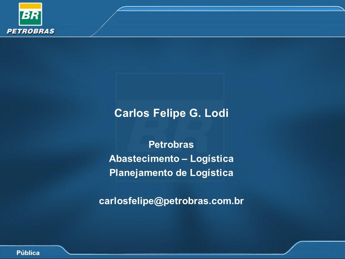 Pública Carlos Felipe G. Lodi Petrobras Abastecimento – Logística Planejamento de Logística carlosfelipe@petrobras.com.br