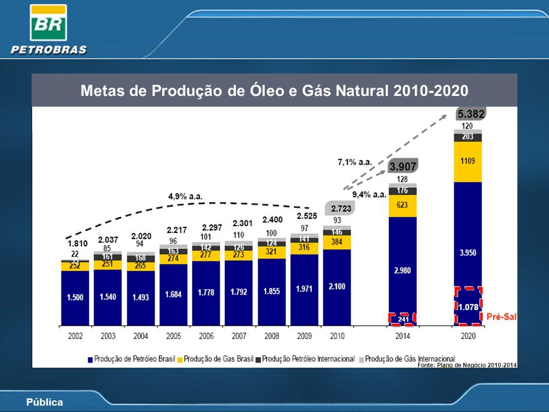 Pública Fonte: Plano de Negócio 2010-2014 Demanda Nacional e Capacidade de Refino Fonte: Plano de Negócio 2010-2014