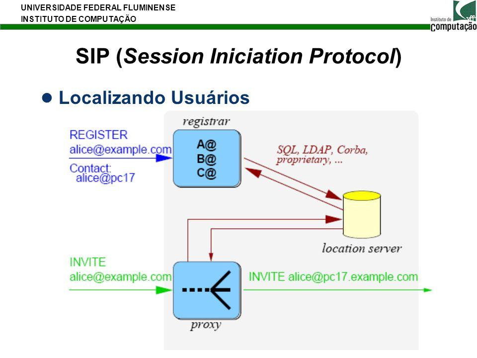 UNIVERSIDADE FEDERAL FLUMINENSE INSTITUTO DE COMPUTAÇÃO 13 SIP (Session Iniciation Protocol) Localizando Usuários