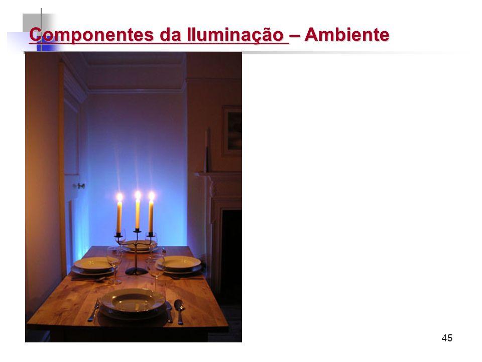45 Componentes da Iluminação – Ambiente
