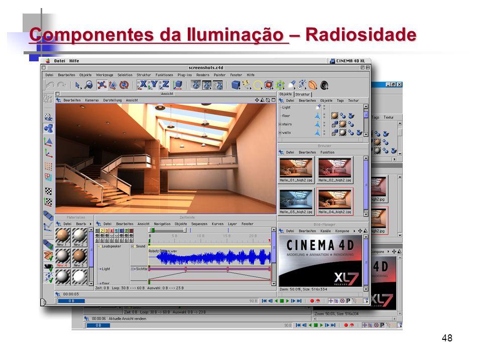48 Componentes da Iluminação – Radiosidade