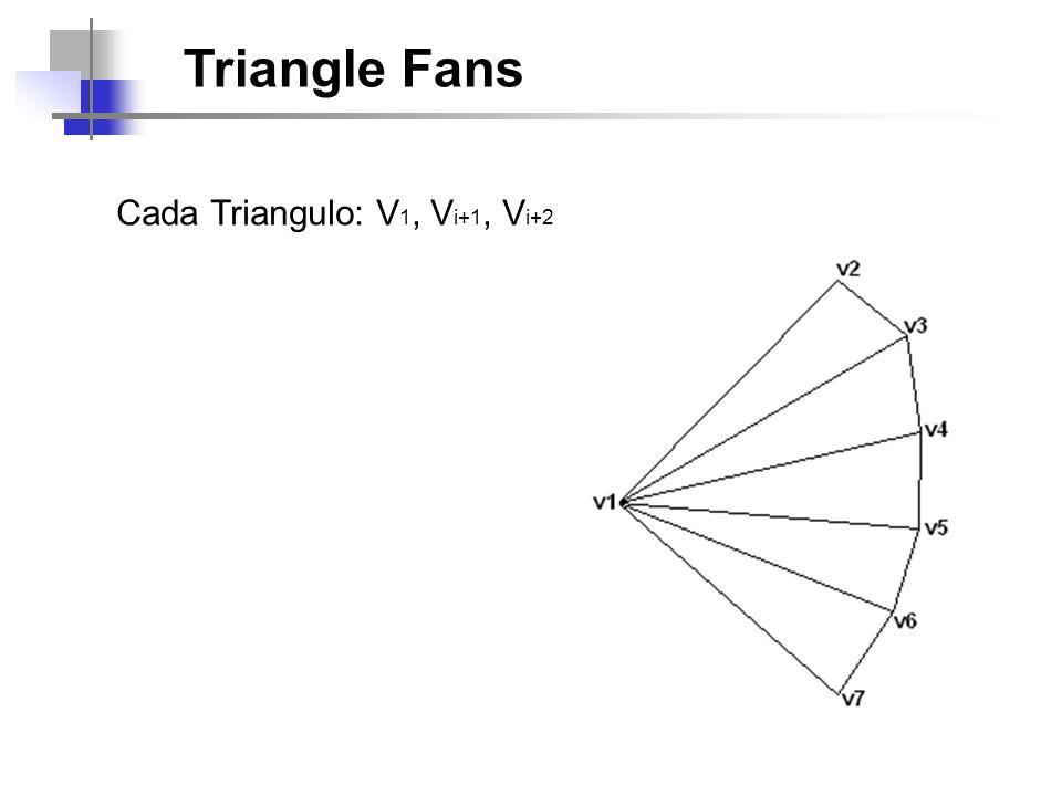 Triangle Fans Cada Triangulo: V 1, V i+1, V i+2