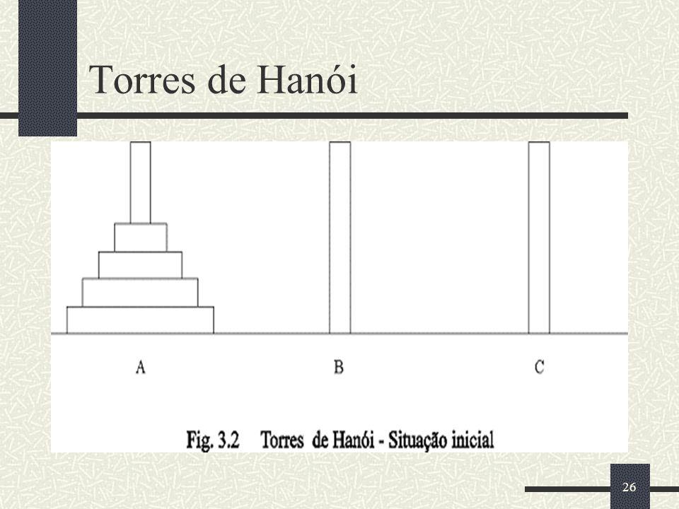 26 Torres de Hanói