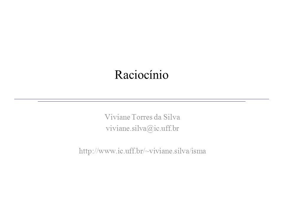 Raciocínio Viviane Torres da Silva viviane.silva@ic.uff.br http://www.ic.uff.br/~viviane.silva/isma