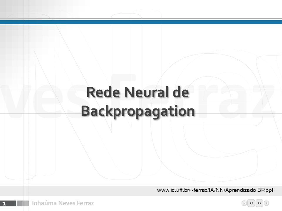 Rede Neural de Backpropagation 1 www.ic.uff.br/~ferraz/IA/NN/Aprendizado BP.ppt