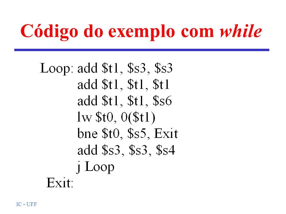 IC - UFF Código do exemplo com while