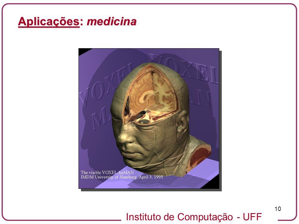 Instituto de Computação - UFF 10 Aplicações: medicina