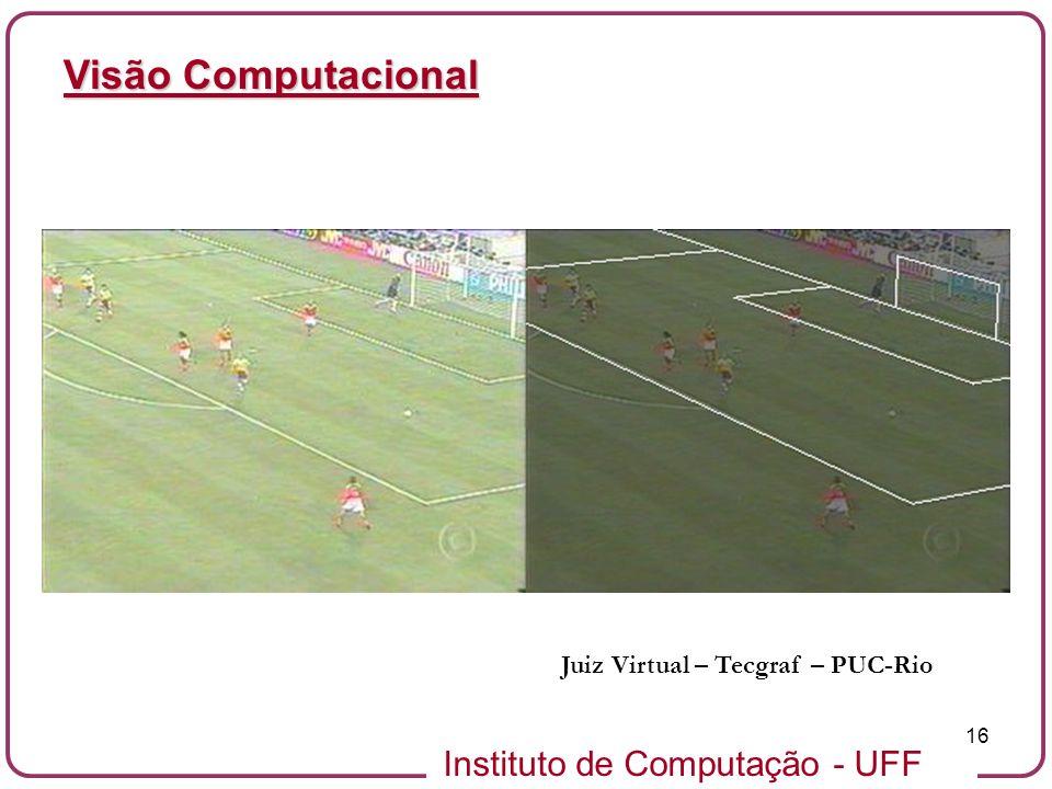 Instituto de Computação - UFF 16 Visão Computacional Juiz Virtual – Tecgraf – PUC-Rio