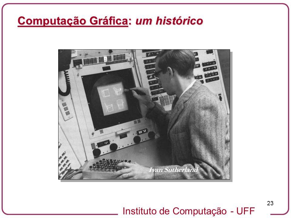 Instituto de Computação - UFF 23 Computação Gráfica: um histórico Ivan Sutherland