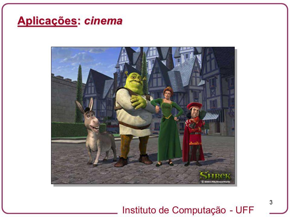Instituto de Computação - UFF 3 Aplicações: cinema