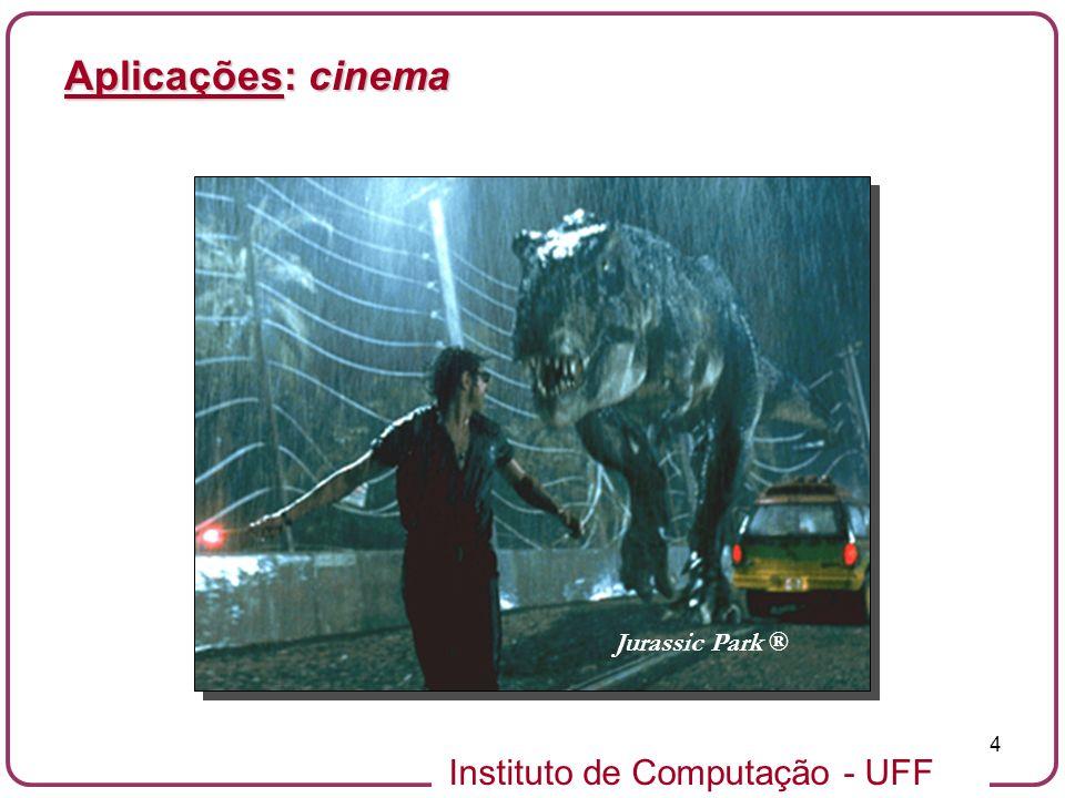 Instituto de Computação - UFF 4 Aplicações: cinema Jurassic Park ®