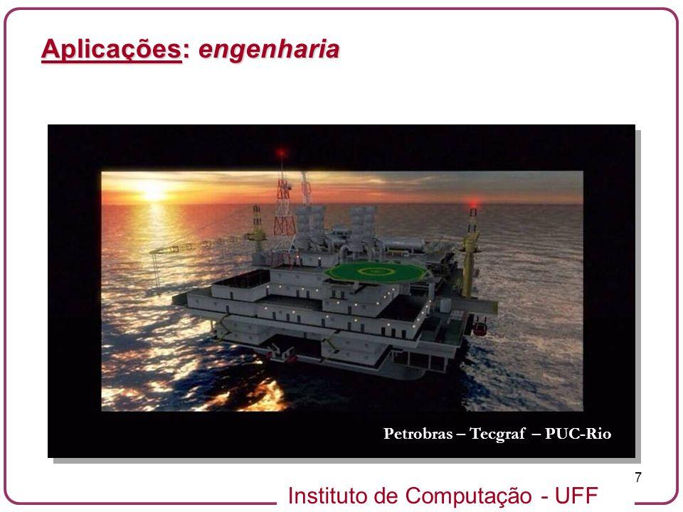 Instituto de Computação - UFF 7 Aplicações: engenharia Petrobras – Tecgraf – PUC-Rio
